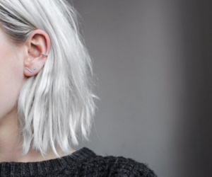 accessories, earring, and white hair image