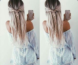 fashion, blonde, and braid image