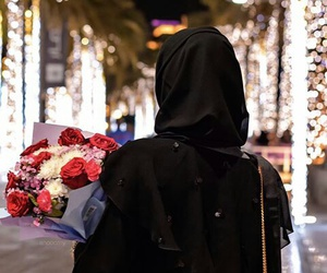 arab, bag, and bouquet image