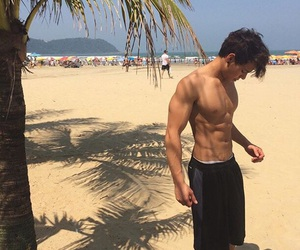 boy, beach, and cameron dallas image