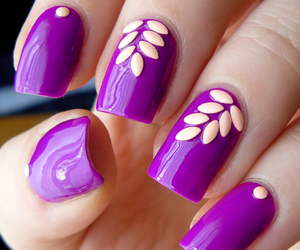 violet, nailart, and violeta image
