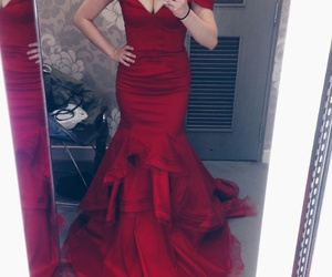 red dress, dresses, and fashion image