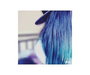 blue, cap, and hair image