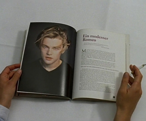 leonardo dicaprio, book, and boy image