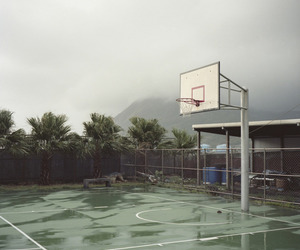 rain, Basketball, and nature image