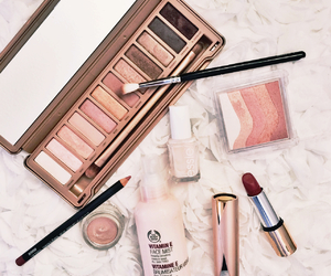 blush, body shop, and gold image