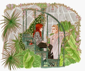 kiss, clary, and love image