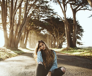 girl, pretty, and nature image