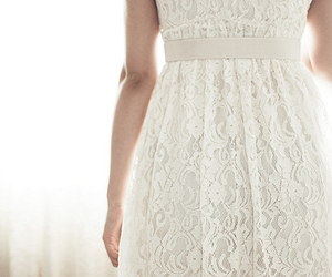 dress, fashion, and lace image