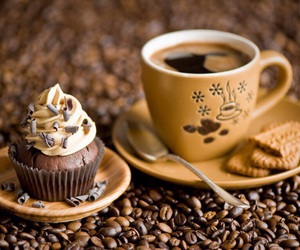coffee, cupcake, and food image