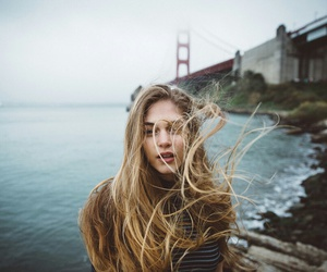 beauty, wind, and girl image