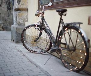 light, bike, and vintage image