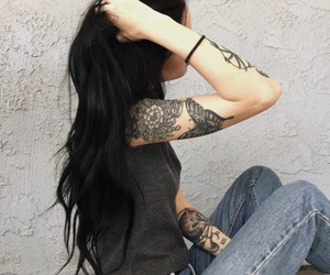 bad ass, summer, and black hair image