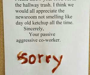 funny, ketchup, and sorry image