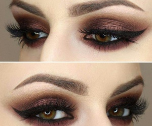 beautiful, make up, and brown image