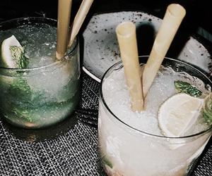 drinks, green, and mojito image