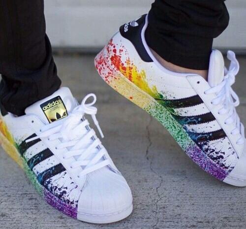adidas scarpe arcobaleno