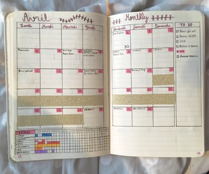 agenda, april, and month image