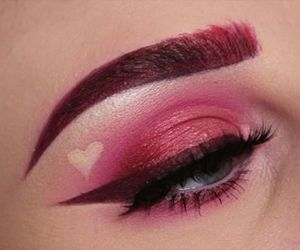 eyeliner and pink image