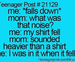 funny, teenager post, and mom image
