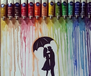 love, art, and couple image