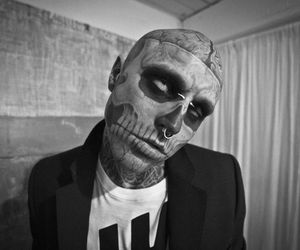 funny, tattoo, and rick genest image