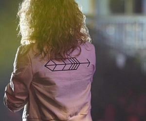 arrow, curls, and blonde image