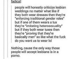 lgbtq, same, and gender roles suck image
