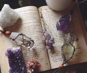 book, crystal, and magic image
