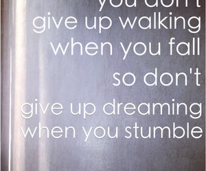 don't give up, motivation, and never give up image