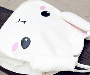 kawaii, pastel, and bunny bag image