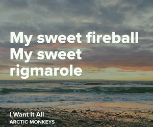 arctic monkeys, fireball, and Lyrics image