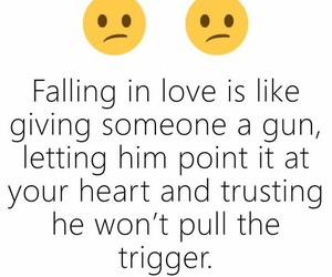 love, gun, and quote image