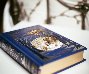 book, narnia, and blue image