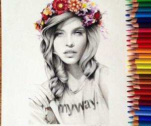 beauty, colourful, and flowers image