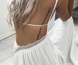 tattoo, hair, and dress image