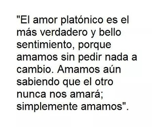 love, frases, and platonico image