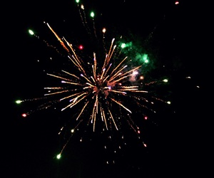 colors, dark, and fireworks image