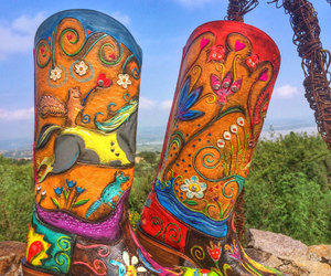 etsy, colorful boots, and happyart image