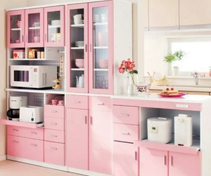 kitchen, pink, and home image