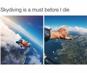 life and skydiving image