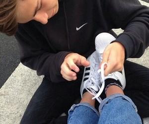 couple, adidas, and boy image