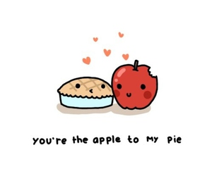 apple, cute, and love image
