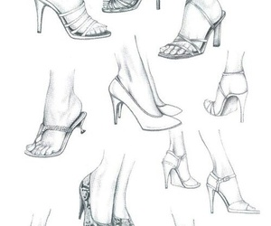 draw, ‎zapatos‬ ‪, and feet image