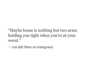 quotes, home, and arms image