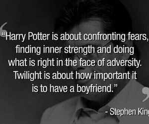 harry potter, Stephen King, and quote image