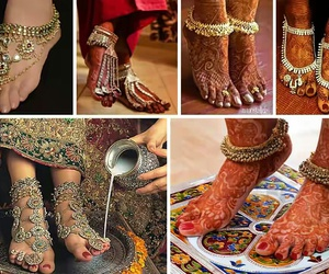 indian, anklet, and wooww image