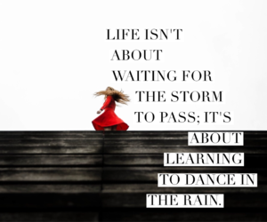 dance, quote, and rain image