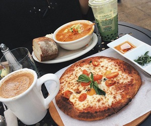 coffee, food, and pizza image
