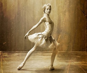 ballet, black and white, and dress image